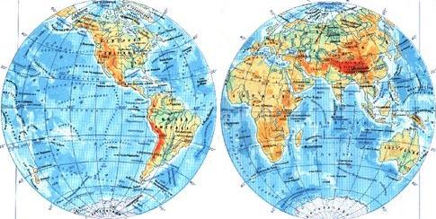 урок земля на глобусе и карте