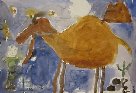 изобразительное искусство верблюд в пустыне