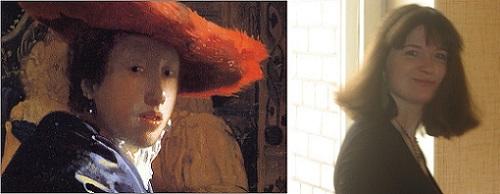 Живые картины: Ян Вермеер «Девушка в красной шляпе» и Татьяна Саксон