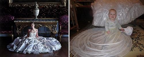 Живые картины: Rob Hefferan, гипперреалистическая картина невесты и Ульяша в образе невесты