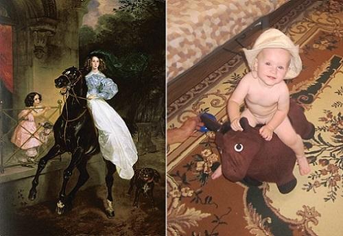 Живые картины: «Всадница» Карла Брюллова и всадница Ульяша