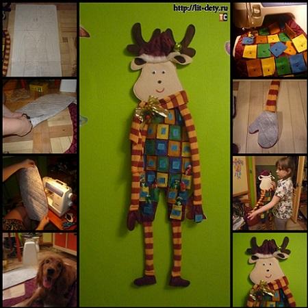 Мастер-класс: рождественский олень календарь своими руками
