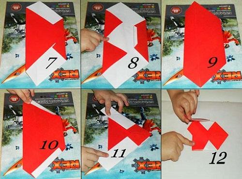 Дед Мороз из цветной бумаги в технике оригами. Мастер-класс