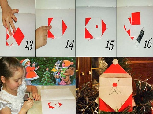 Как сделать деда Мороза из бумаги. Инструкция