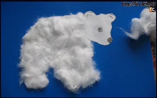Медвежонок Умка своими руками из ваты