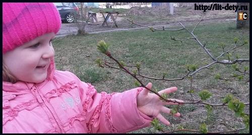 деревья весной для детей
